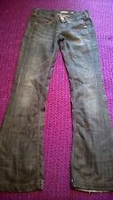 Quality designer Miss Sixty dark denim jeans flared style VGC size 26 L33