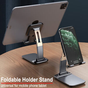 Foldable Metal Desk Mobile Phone Holder Stand For iPhone 12 11 Pro iPad Tablet