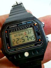 MONTRE WATCH LCD QUARTZ CASIO THERMOMETER TS 1000 JAPAN 100M VINTAGE 1982