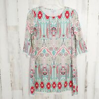 Women's Tunic Top Size Small 3/4 Sleeves Lace Trim A Dip of Darling