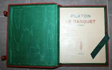 EO TIRAGE UNIQUE 50 EX LAURENT/ PLATON LE BANQUET / JAVAL BOURDEAUX / JACOMET