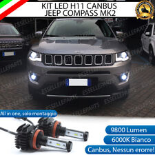 KIT FULL LED LAMPADE H11 6000K 9800 LM CANBUS FENDINEBBIA JEEP COMPASS II 2