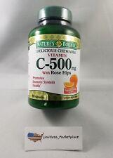 Natures Bounty Vitamin C 500mg w/Rose Hips - 90 Orange Chewables - Exp. 12/2018