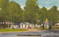 Linen Postcard Moon-Winx Court and Restaurant in Tuscaloosa, Alabama~128967