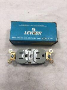 Leviton 5252-GY Self Grounding Duplex Receptacle