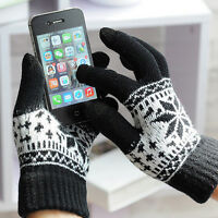 Soft Winter Men WomenScreen Gloves Texting Capacitive Smartphone Knit tus