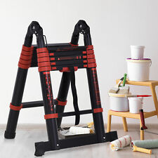 "73"" Aluminum Multi-Purpose Telescopic Ladder Indoor Outdoor Househeld"