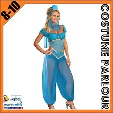 Womens Sexy Genie Jasmine Aladdin Ladies Fancy Dress Costume Size 8 - 10