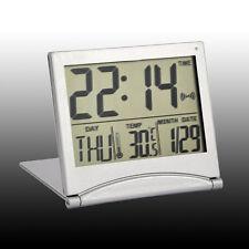Fashion Digital LCD Display Desk Table Alarm Snooze Clocks Calendar Thermometer