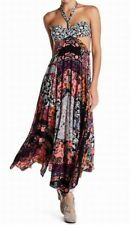 NWT Free People MultiColored Floral Woman's Festival Dress Boho Halter Size 2