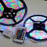 10M 3528 RGB SMD 600 LED Waterproof Change Color 12V Light Strip 24 Key Remote