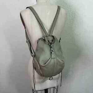 Rebecca Minkoff Gray Leather Convertible Mini Julian Backpack