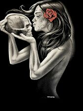 T-shirt, Gothic Girl, Day of Dead Kiss 19411