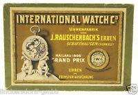 ORIGINAL IWC ETUI / BOX - KARTON FÜR ERSATZTEILE & ZUBEHÖR - ALTER: um 1910