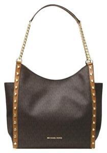 Michael Kors Bag / Bag Newbury Md Chain Shldr Tote Bag Braun Acorn