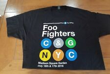 FOO FIGHTERS MSG POP UP XL SUBWAY TSHIRT 2018 NYC SOLDOUT POSTER fenway wrigley