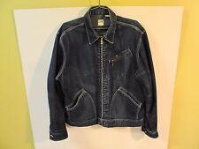 VTG LEE 1950's Jean Denim Sanforized Union Made USA Jean Jacket Zip Zippered L ?