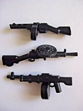 BrickArms RUSSIAN Machine Gun Lot for WW2 Lego Figures - PPSh, RPD, & DP-28