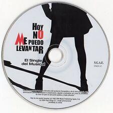 """MECANO """"HOY NO ME PUEDO LEVANTAR - EL SINGLE DEL MUSICAL"""" PROMO CD / NACHO CANO"""