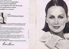 PUBLICITE ADVERTISING 045 1976 ESTEE LAUDER maquillage  (2 pages)