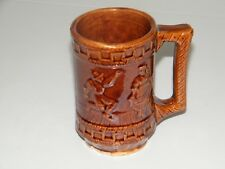 Brown Stoneware Crock Crockery Folk Dancers Dance Beer Mug Coffee Cup Red Wing