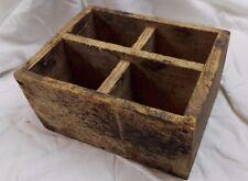 Caisse bois ancienne/4 compartiments/servante d'atelier/déco rétro vintage/