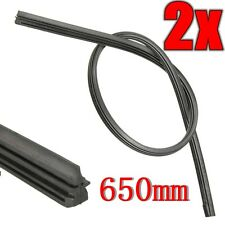 2PCS 26'' 6mm Frameless Windshield Wiper Blade Refill Car Bus Silicone Universal