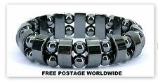 Hematite Magnetic Bracelet FOR CONTROL HIGH/LOW Blood Pressure/ Acupressure