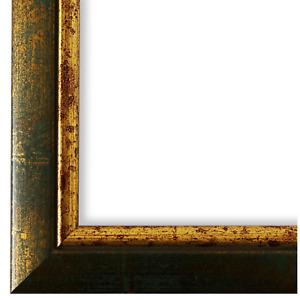 Bilderrahmen Grün Gold Holz Perugia 3,0 - DIN A2 - DIN A3 - DIN A4 - DIN A5