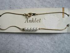 - Ankle Bracelet 14K Gp Anklet Vintage