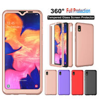 For Samsung Galaxy A10e 360° Full Protective Hard Case Cover W/ Screen Protector