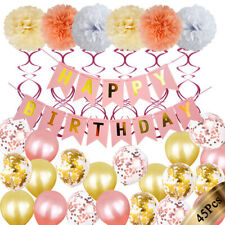 Happy Birthday Party Decorations Banner Bunting Balloons 1st 18th 21st 30th+