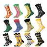 Mens Combed Cotton Socks Novelty Animal Print Funny Casual Dress Socks For Gift