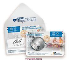 """EERSTE DAG UITGIFTE 5 EURO NEDERLAND 2012: """"GRACHTENGORDEL VIJFJE"""""""