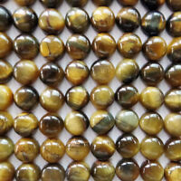 5 PIECES OF 5mm ROUND CABOCHON-CUT NATURAL AFRICAN GOLDEN TIGERS EYE GEMSTONES