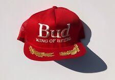 Vintage Budweiser King Of Beers Hat - Scrambled Egg Embellishment - Red 6d6a5f2b4716