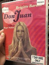 Don Juan ex-rental region 4 DVD (1973 Brigitte Bardot French drama movie) rare