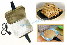 RUSSIAN USSR ELECTRIC SQUARE WAFFLE IRON MAKER EB-1/220 NEW + RECIPE IN ENGLISH