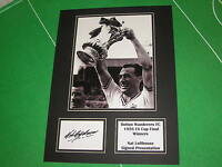 Nat Lofthouse Signed Bolton Wanderers 1958 FA Cup Final Winners Mount
