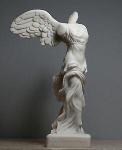 Winged Nike Victory of Samothrace Greek Goddess Handmade Statue Sculpture 7.8in
