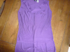 pull tunique violet neuf sans manches taille 42 44