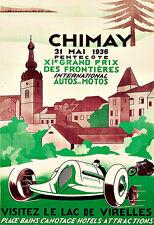 Art Ad Chimay Xi Grand Prix 1936 Auto Moto's Race Car Deco  Poster Print