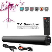 Sound Bar TV Sound System Bluetooth Speaker Wireless Subwoofer Bass Home Theater