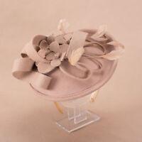 Frauen Wollfilz inspiriert Hut Fascinator Kirche Hochzeit Kopfschmuck A541