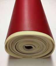 "1/4"" FOAM BACKED MARINE VINYL RED RV ATV AUTO BOAT UPHOLSTERY FABRIC BTY  54""W"