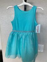 Girls 2t Short Sleeved Cat Jack Blue Summer Princess Dress Nwt