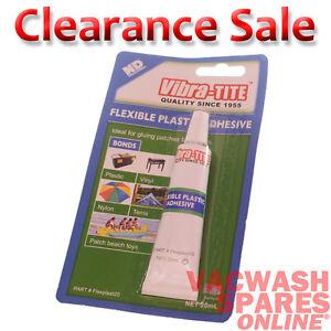 VIBRA-TITE - FLEXIBLE PLASTIC ADHESIVE  - GREAT FOR PLASTIC VINYL NYLON TENTS