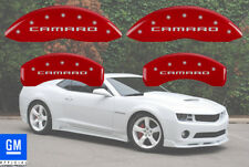 "2010-2015 Chevy ""Camaro"" LS LT Front + Rear Red MGP Brake Disc Caliper Covers"