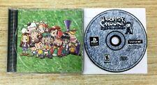 Harvest Moon: Back to Nature PlayStation 1, PS1 DISC & BACK ARTWORK ONLY