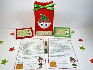 Personalised Elf Return & Goodbye Letters, Gift Bag And Elf Dust